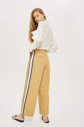 Topshop Side Striped Wide Leg Chino Trousers
