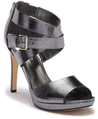 Marc Fisher Marina Crossband Leather Stiletto Heel Sandal