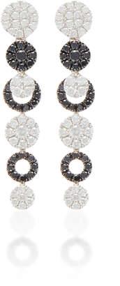Graziela 18K White Gold Black And White Diamond Earrings