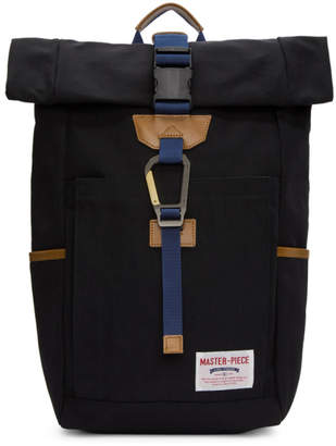 Master-piece Co Master Piece Co Black Foldover Link Backpack