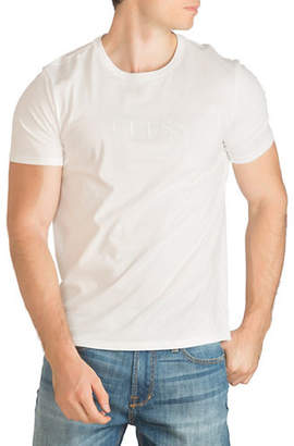GUESS Embroidered Logo Cotton T-Shirt