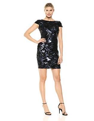Calvin Klein Women's Short Sequin Sleeve Dress