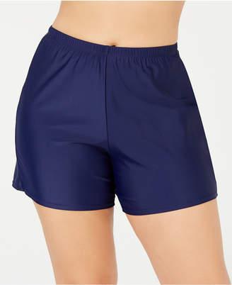 Macy's Island Escape Plus Size Swim Shorts, Created for