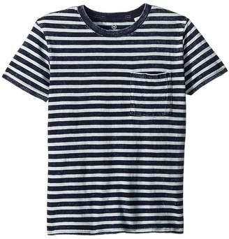 AG Adriano Goldschmied Kids Acid Wash Striped Pocket Tee Boy's T Shirt
