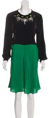 Marni Embellished Colorblock Dress