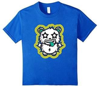 Creepy Emoticon Tees: Rock Panda Whacky T-Shirt