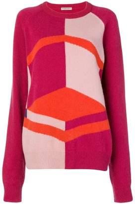 Bottega Veneta colour block sweater