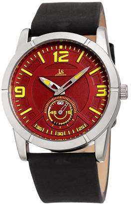 Joshua & Sons Silver Tone Casual Quartz Watch With Leather Strap [JX135SSRD]
