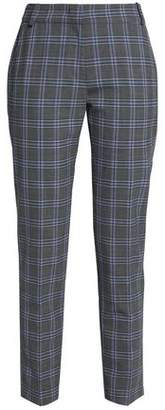 Claudie Pierlot Checked Woven Slim-Leg Pants