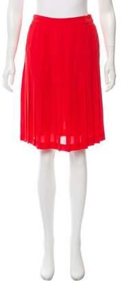BCBGMAXAZRIA Pleated Knee-Length Skirt