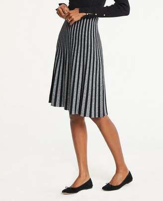 Ann Taylor Pleated Sweater Skirt