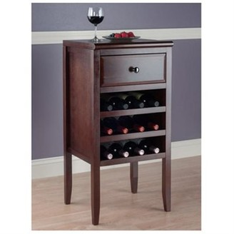 Winsome Orleans Modular Buffet with Wine Rack, Walnut