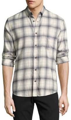 Billy Reid Kirby Slim-Fit Plaid Oxford Shirt