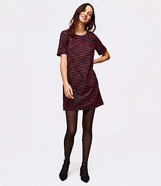 LOFT Petite Tweed Pocket Shift Dress