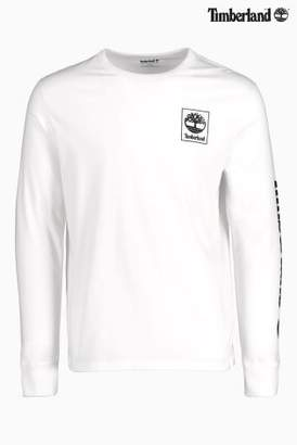 Next Mens Timberland Long Sleeve Logo T-Shirt