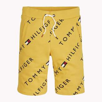 Tommy Hilfiger Sports All-Over Logo Print Shorts