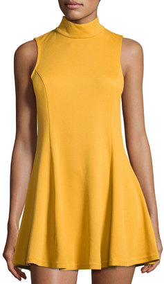 Lucca Couture Moon High-Neck Tank Dress, Yellow $59 thestylecure.com