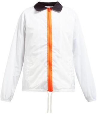 La Fetiche - Lil Contrast Collar Technical Jacket - Womens - White Multi