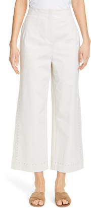 Lafayette 148 New York Downing High Waist Wide Leg Ankle Pants
