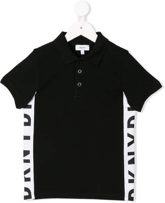 DKNY (ディー ケー エヌワイ) - Dkny Kids logo side stripe polo shirt
