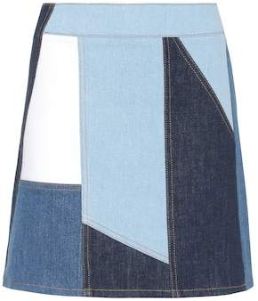 Victoria Beckham Victoria Patchwork denim skirt