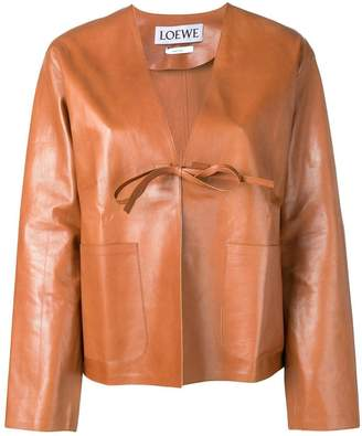 Loewe short leather jacket