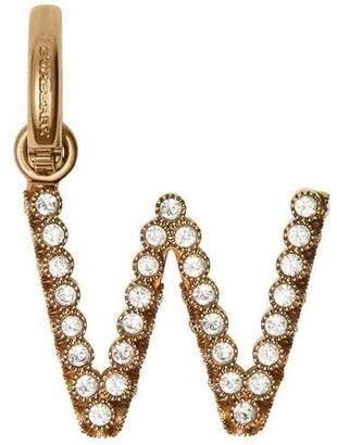 Burberry Crystal 'W' Alphabet Charm