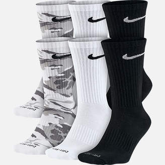 Nike Unisex Dry Cushioned 6-Pack Crew Socks