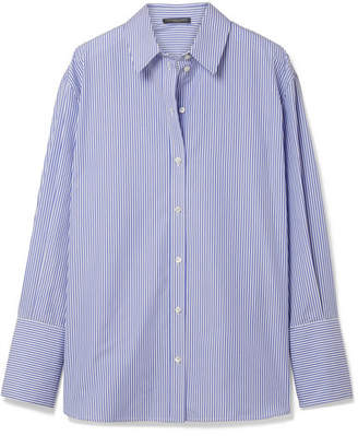 Alexander McQueen Oversized Striped Cotton-poplin Shirt - Blue