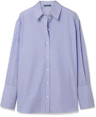 Alexander McQueen Oversized Striped Cotton-poplin Shirt - Blue