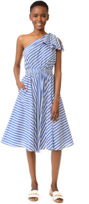 Milly Silk Stripe Anna Dress $595 thestylecure.com