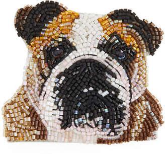 Mignonne Gavigan Seed Bead Dog Brooch