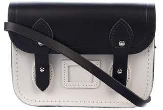 Cambridge Silversmiths Satchels Mini Bicolor Leather Crossbody Bag w/ Tags