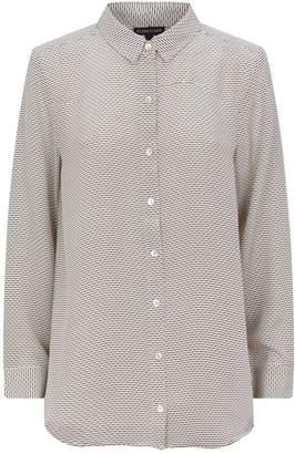 Eileen Fisher Printed Silk Shirt