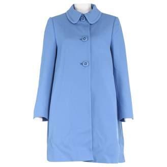 Prada Blue Wool Trench coats