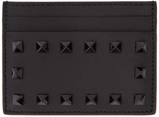 Valentino Black Garavani Tonal Rockstud Card Holder