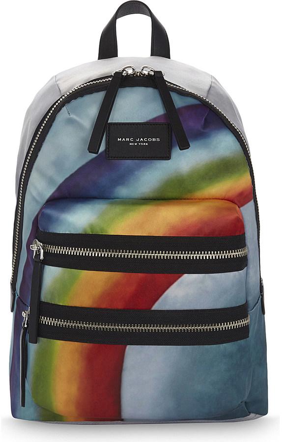Marc JacobsMarc Jacobs Biker rainbow print backpack