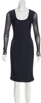 Jean Paul Gaultier Soleil Long Sleeve Knee-Length Dress