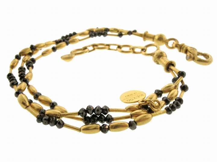 Gurhan Mist Bracelet with Black Diamonds