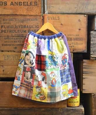 leap-kyoto リメイク ビンテージ シーツ パッチワーク スカート 120~150cm