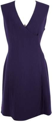 Armani Collezioni Purple Wool Dresses