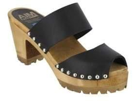 Mia Elva Double Band Leather Mules