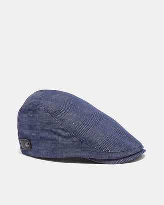Ted Baker CRISTAN Cotton and linen flat cap