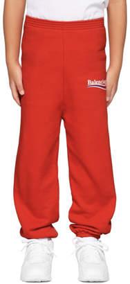 Balenciaga Boy Red Campaign Logo Lounge Pants