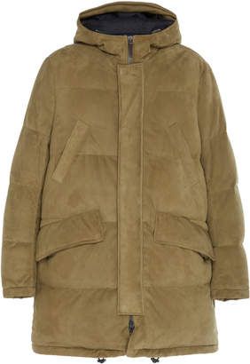 Yves Salomon Paris Doudoune Lamb Leather Rabbit Coat