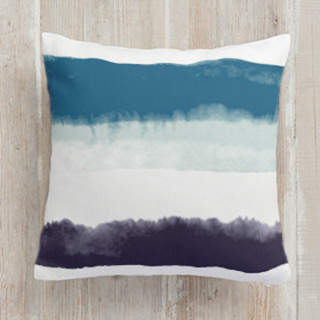 Bold Watercolor Stripes Square Pillow