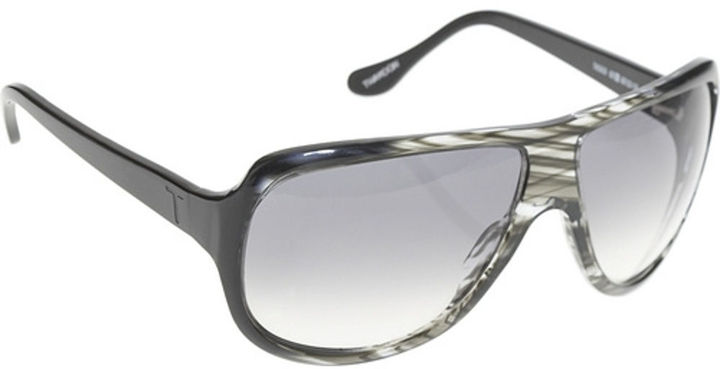 Thakoon Plastic Aviator - Grey/Black