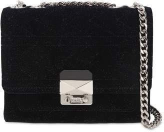 Karl Lagerfeld Kaia X Glitter Velvet Shoulder Bag