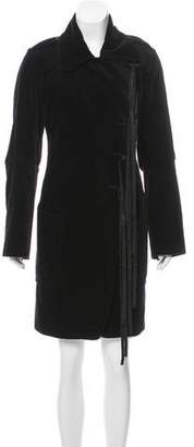 Ann Demeulemeester Velvet Knee-Length Coat