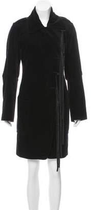 Ann Demeulemeester Velvet Knee-Length Coat